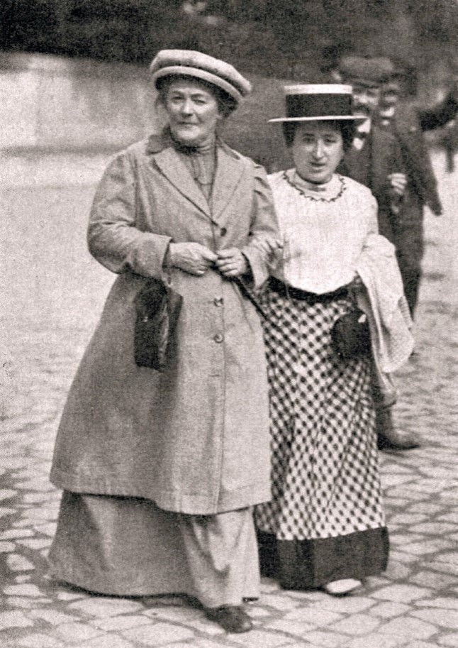 Clara Zetkin and Rosa Luxemburg in 1910